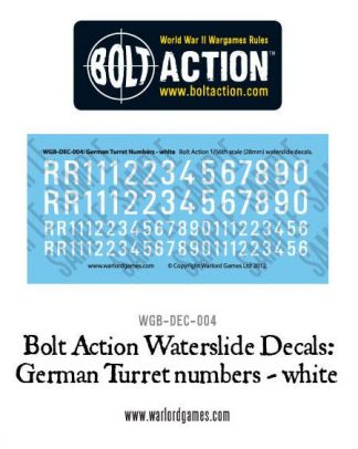 German Turret Numbers - white decal 1