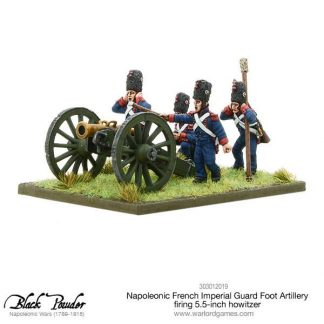 Napoleonic French Imperial Guard Foot Artillery howitzer (firing) 1