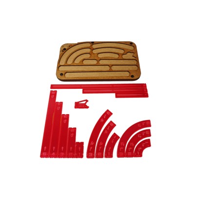 Space Fighter Manouver Tray - Red 1
