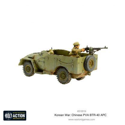 Korean War: Chinese PVA BTR-40 APC 3