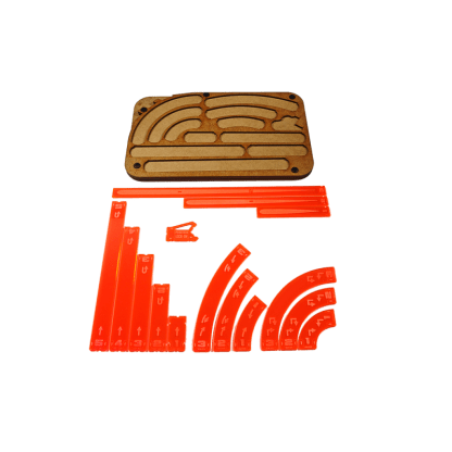 Space Fighter Manouver Tray - Orange 1