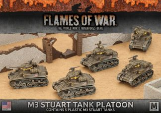 M3 Stuart Light Tank Platoon (5x Plastic) 1