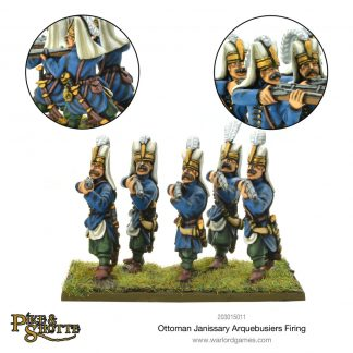 Ottoman Janissary Arquebusiers firing 1