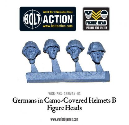 Figure Heads: Germans in Camo-covered Helmets B 1