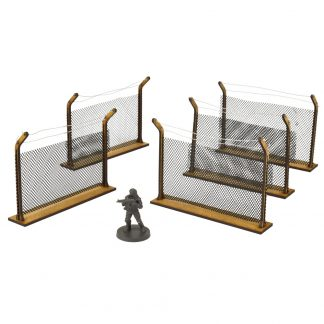 The Walking Dead Chain-Link Fences MDF Scenery Set 1