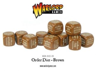 Bolt Action Orders Dice - Brown (12) 1