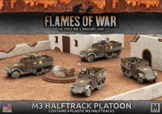 M3 Halftrack Transport Platoon (4x plastic) 1
