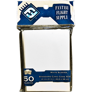 FFG Supply: White Sleeves Standard Card Game Size 1