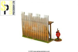 Wooden Palisade Wall - Straight 1