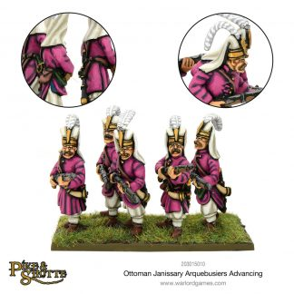 Ottoman Janissary Arquebusiers advancing 1