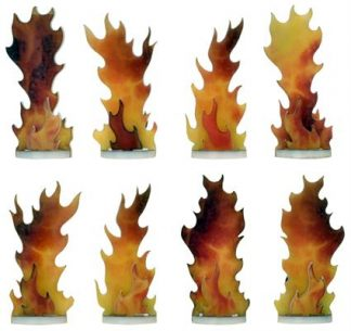 Flames of War Destroyed Markers (x8) 1