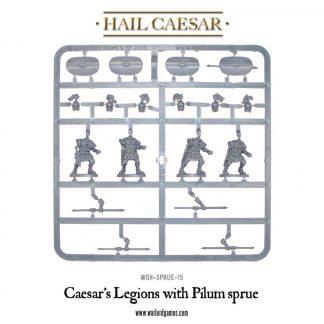 Caesarian Romans with Pilum frame 1