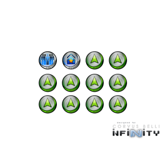 Infinity Tokens Regular (12) GREEN 1