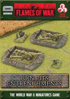 Flames of War: Entrenchments Gun Pit Markers 1