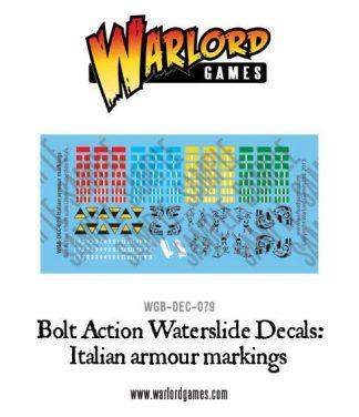 Italian Armour decal sheet 1