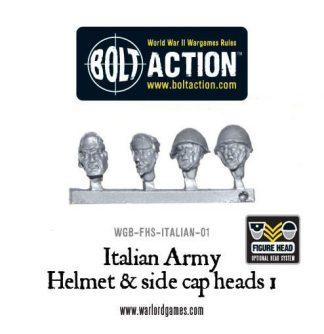 Italian Army Helmet & side cap heads 1 1