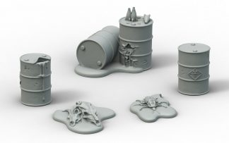 Fallout: Terrain Expansion Radioactive Containers (x3) 1