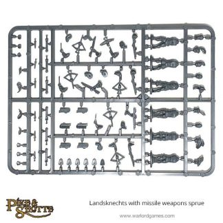 Landsknechts with Missile Weapons Sprue 1