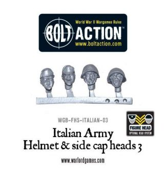 Italian Army Helmet & side cap heads 3 1