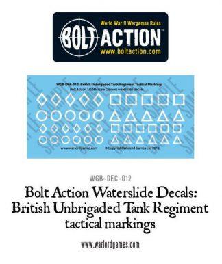 British Unbrigaded Tank Regt tac marking decals 1