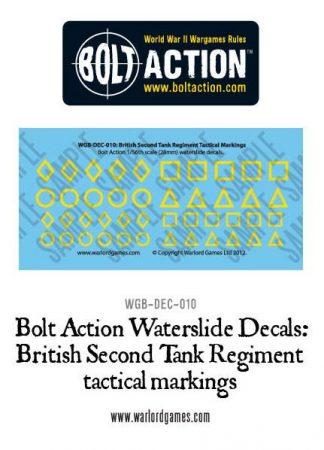British Second Tank Reg tactical marking decals 1