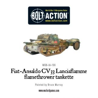 Italian Fiat-Ansaldo CV33 Lanciaflamme flamethrower tankette 1