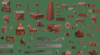 Terrain Crate: Town Center Mega Set 1