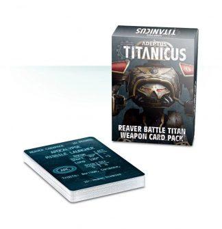 Adeptus Titanicus: Reaver Battle Titan Weapon Card Pack 1