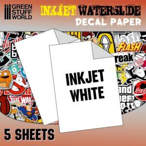 Waterslide Decals - Inkjet White 1