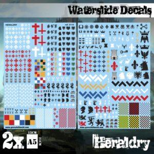 Waterslide Decals - Heraldry 1