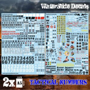 Waterslide Decals - Tactical Numerals and Pinups 1