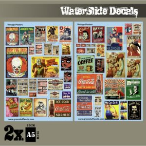 Waterslide Decals - Vintage Posters 1