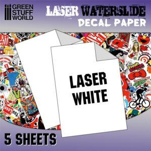 Waterslide Decals - Laser White 1