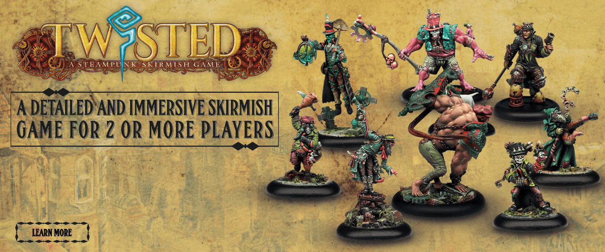 twisted steampunk skirmish tabletop wargame miniatures demented games