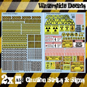 Green Stuff World   Decals Waterslide Decals - Caution Strips and Signs - 8436574503708ES - 8436574503708