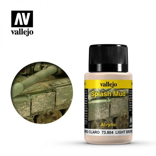 Vallejo   Weathering Effects Weathering Effects 40ml - Light Brown Splash Mud - VAL73804 - 8429551738040