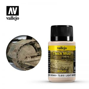 Vallejo   Weathering Effects Weathering Effects 40ml - Light Brown Thick Mud - VAL73810 - 8429551738101