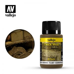 Vallejo   Weathering Effects Weathering Effects 40ml - European Thick Mud - VAL73807 - 8429551738071
