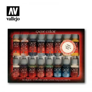 Vallejo   Paint Sets Vallejo Game Color Set - Leather and Metal (x16) - VAL72291 - 8429551722919