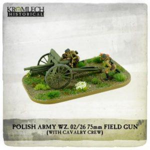 Kromlech   Kromlech Historical Polish Army wz.02/26 75mm field gun with Cavalry crew (cannon + 3) - KHWW2024 - 5902216118218