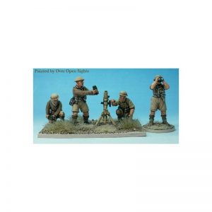 Perry Miniatures   Perry Miniatures 3in Mortar and 4 crew - WW9 -