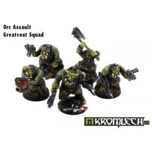 Kromlech   Orc Model Kits Orc Assault Greatcoat Squad - KRM032 - 5902216111554