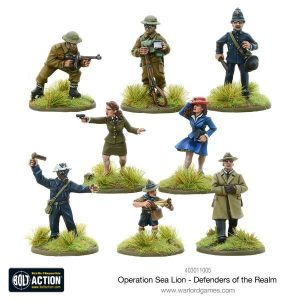 Warlord Games Bolt Action  Great Britain (BA) Operation Sea Lion Defenders of the Realm - 403011005 - 5060393707295