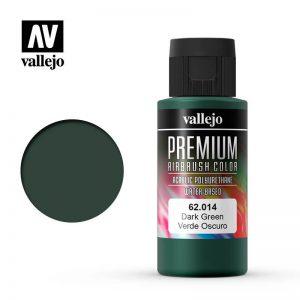 Vallejo   Premium Airbrush Colour AV Vallejo Premium Color - 60ml - Dark Green - VAL62014 - 8429551620147