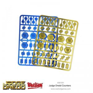 Warlord Games (Direct) Judge Dredd  SALE! Judge Dredd: Counters Set - 659010001 - 5060572505735