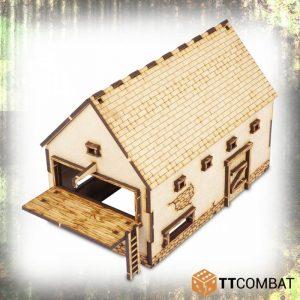 TTCombat   World War Scenics 25mm Barn - TTSCW-WAR-055 - 5060570134777
