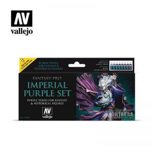 Vallejo   Fantasy Pro AV Vallejo Fantasy Set - Imperial Purple (8) - VAL74104 - 8429551741040
