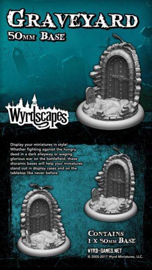 Wyrd   Graveyard Wyrdscapes Graveyard 50mm Base - WYRWS009 - 813856018590