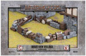 Gale Force Nine   Battlefield in a Box Wartorn Village - Barricades - BB591 - 9420020242784