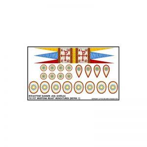 Gripping Beast SAGA  SAGA Byzantine Banner & Shield Transfers - LBMS SAGA012 -